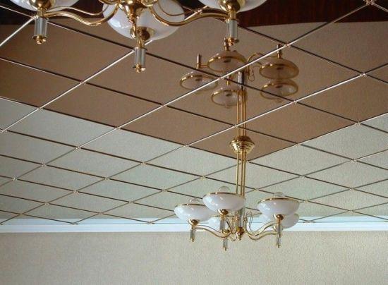 Преимущества зеркальных потолков